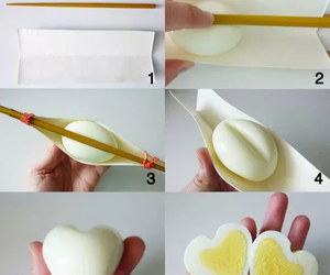 egg, heart, and food image