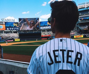 joe sugg, baseball, and yankees image