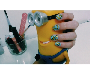 minions, nails, and nailsart image