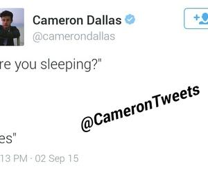 tweets, blah blah, and cameron dallas image