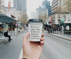 love, drink, and coffee image