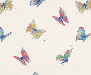 butterflies, fly, and patterns image