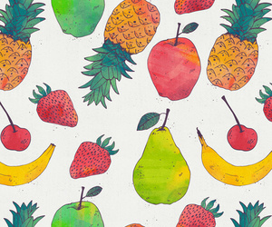 apple, banana, and FRUiTS image