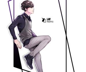 lay, exo, and fanart image