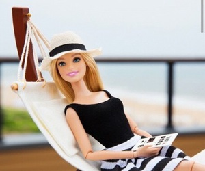 barbie, beach, and black image