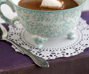 girly, tea, and tea cup image