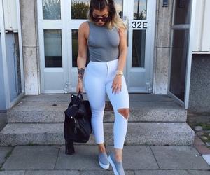 fashion, grey, and bag image