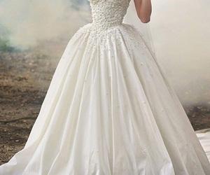 dress, wedding, and nails image