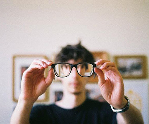 glasses, boy, and indie image