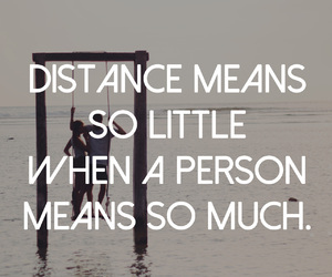 quote, distance, and person image