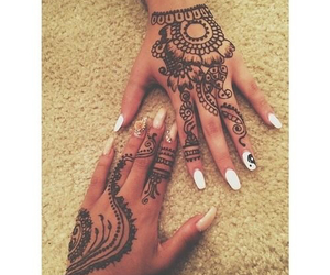beautiful, girls, and mehandi image