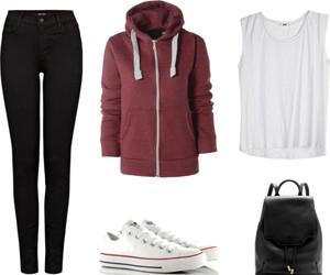 converse, fashion, and hoodies image