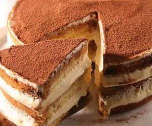 food, tiramisu, and cake image