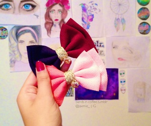 accessories, blue, and bows image