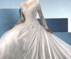 photo, vintage wedding dress, and wedding image