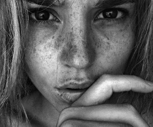 beautiful, black, and freckles image