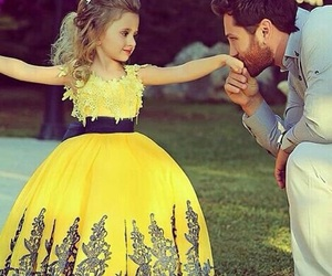 princess, dress, and yellow image