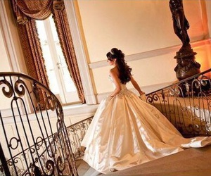 dress, wedding, and princess image