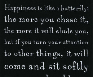 happiness, quote, and butterfly image