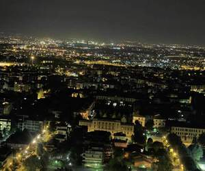 italy, lights, and skyline image