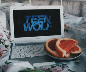 laptop and teen wolf image