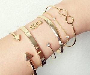 bracelet, girl, and infinity image