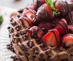 breakfast, chocolate, and fruit image