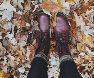 autumn, boots, and cold image