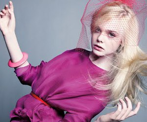 Elle Fanning and pink image