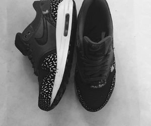 air max, black and white, and nike image