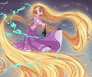 rapunzel, disney, and hair image