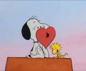 anime, heart, and snoopy image