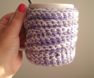 crochet, weheartit, and coffee image