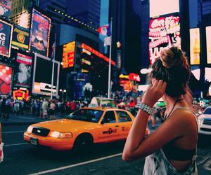 girl, new york, and city image