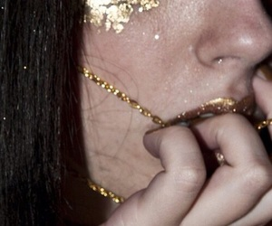 gold, grunge, and glitter image
