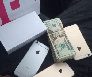 iphone, money, and apple image