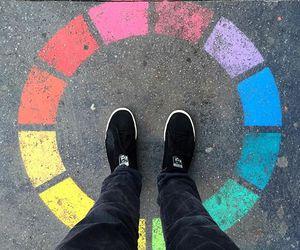 alternative, art, and rainbow image