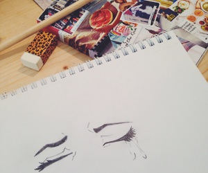 draw, drawing, and tears image
