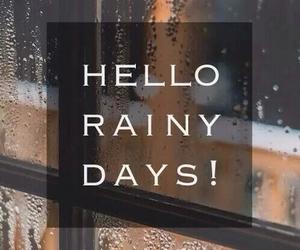 rain, autumn, and hello image