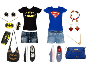 batman, outfit, and superman image