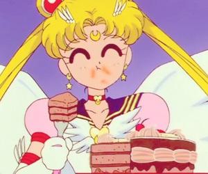 sailor moon, anime, and cake image