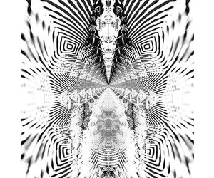 psychedelique, larry carlson, and black and white image