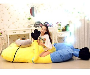 bed, gift, and minion image