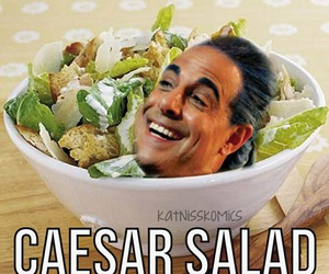 caesar, funny, and salad image