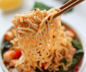 food, noodles, and foodporn image