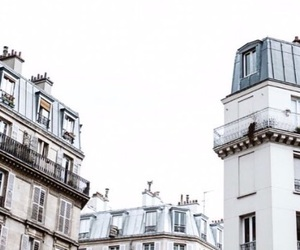 building, white, and paris image