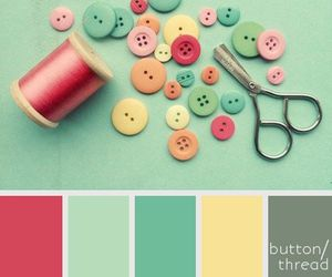 color palette and home decor image