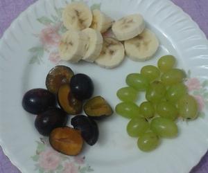 banana, fruit, and plum image