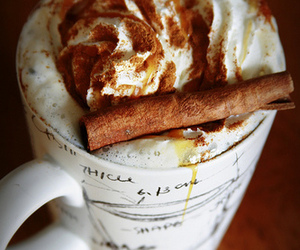 coffee, drink, and Cinnamon image