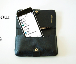iphone, wallet, and shopping image